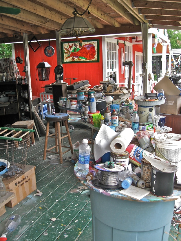 Mary's studio.  The red building in the background is the Coca Cola House.