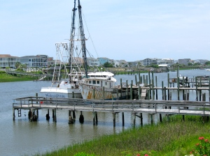 View from the intercoastal waterway to Holden Beach
